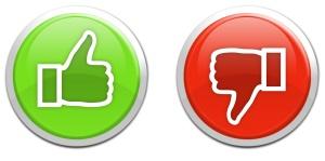 Social media icons like dislike