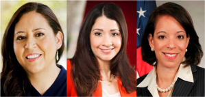 From left to right, Alejandra Ceja, Frances Colon, PhD, and Alejandra Castillo