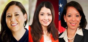 From left to right, Alejandra Ceja, Frances Colon, PhD, and Alejandra Castillo