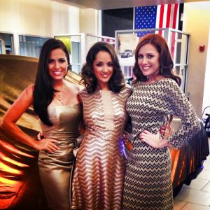 Merrick Park TV feminine cast Lainnet Borrego, Maria Elena Sanchez and Stephie Torres