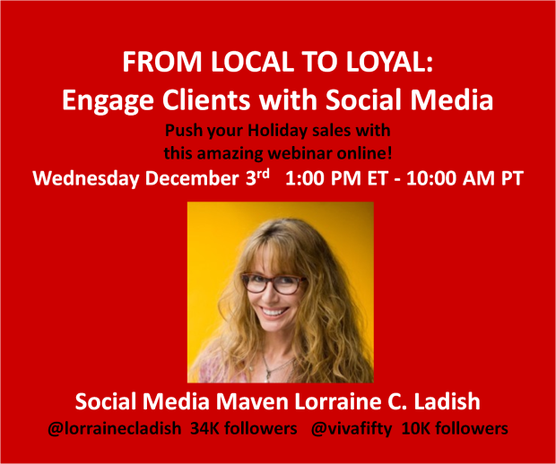 Engage with social media Lorraine C Ladish