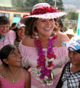 Jackie Cacho in Peru