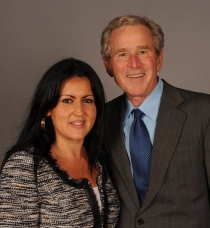 Mina Trujillo with Former President George W Bush at the