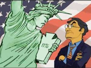 Manuel vs Statue of Liberty poster
