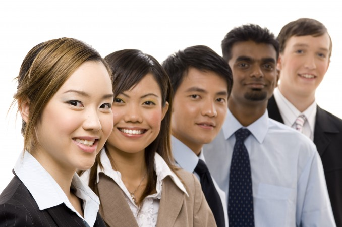 diverse group of business personnel