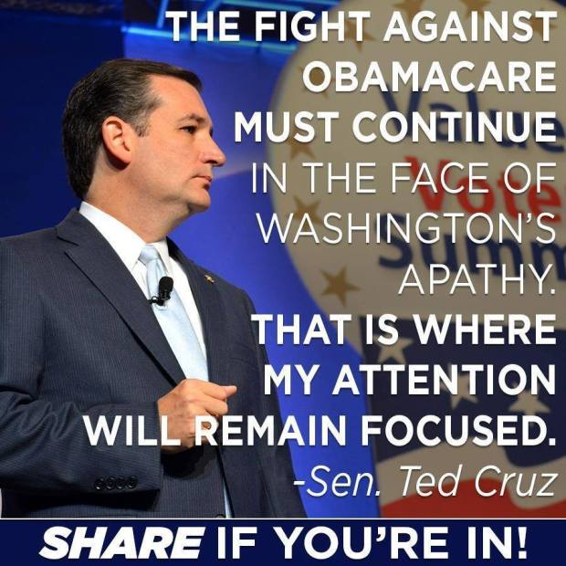 Ted Cruz position on the American Healthcare Act (ACA).